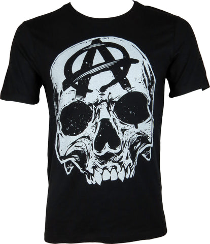 Sons Of Anarchy Big Skull Black TShirt - pumpheadgear, baseball caps