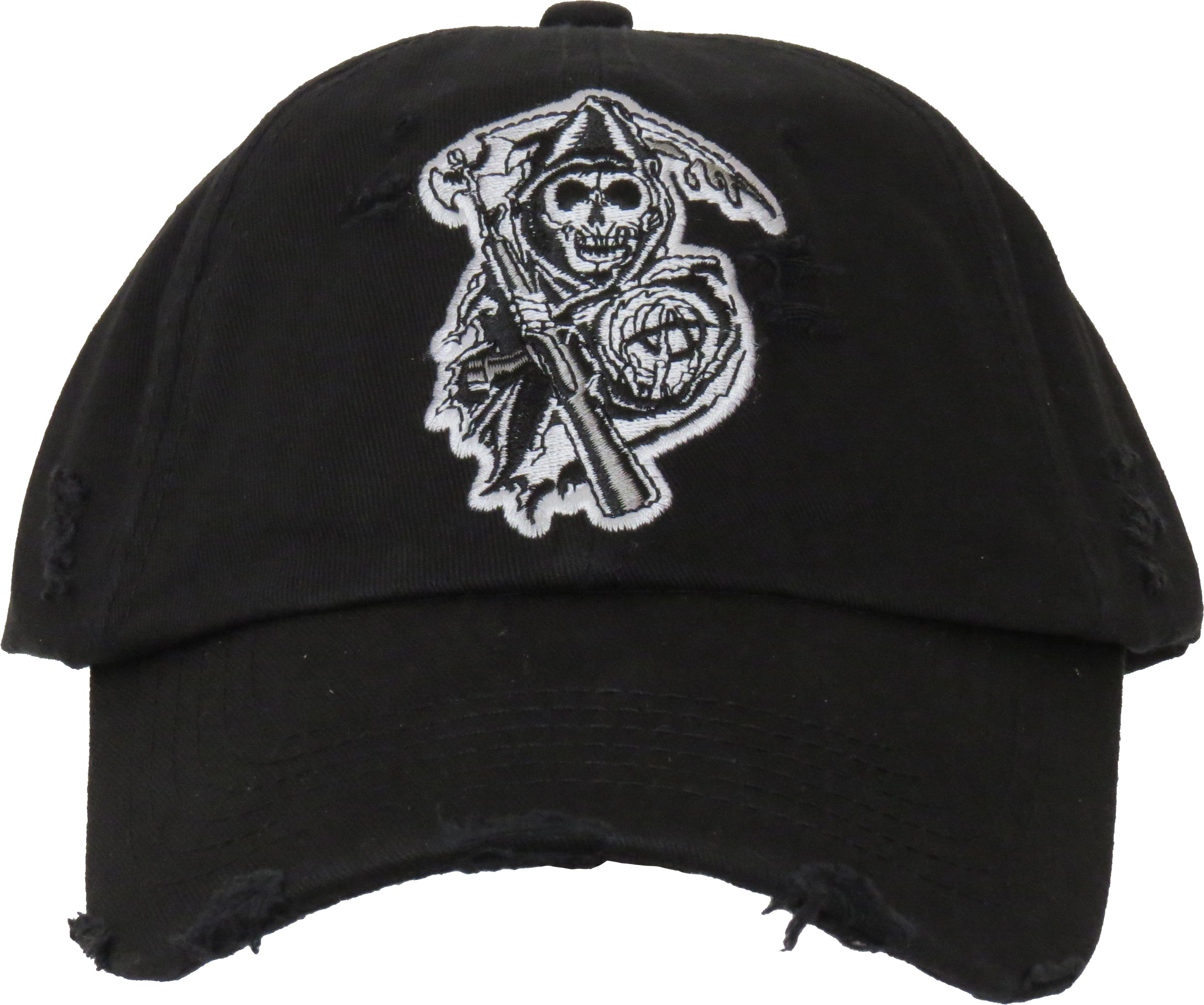 usa cheap sale factory outlet presenting Sons Of Anarchy Destroyed Black Cap – lovemycap
