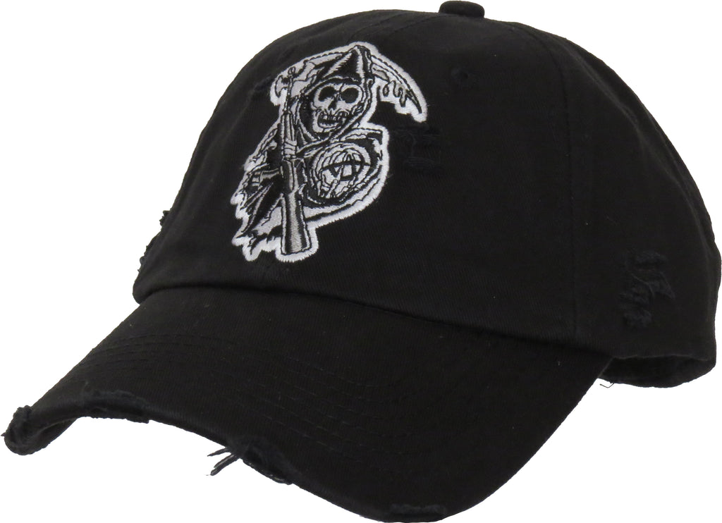 Sons Of Anarchy Destroyed Black Cap - pumpheadgear, baseball caps