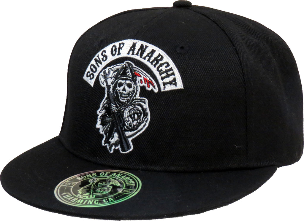 Sons Of Anarchy Death Reaper Black Snapback Cap - pumpheadgear, baseball caps