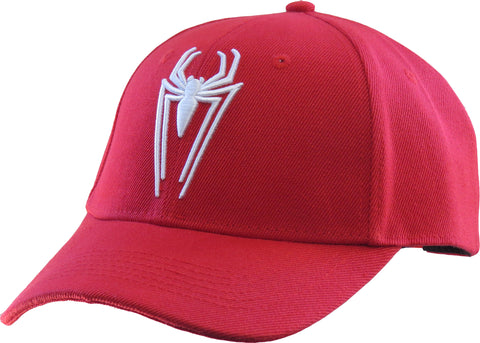 Spiderman Logo Red Snapback Cap