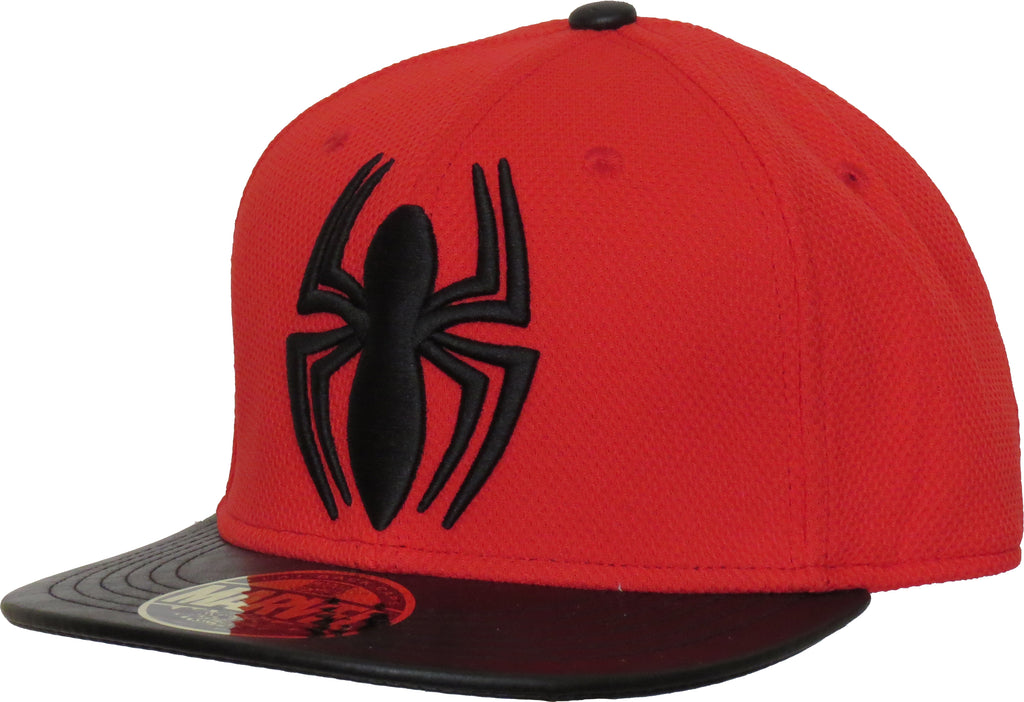 Marvel Comics Spiderman Spidermark Red Snapback Cap - pumpheadgear, baseball caps