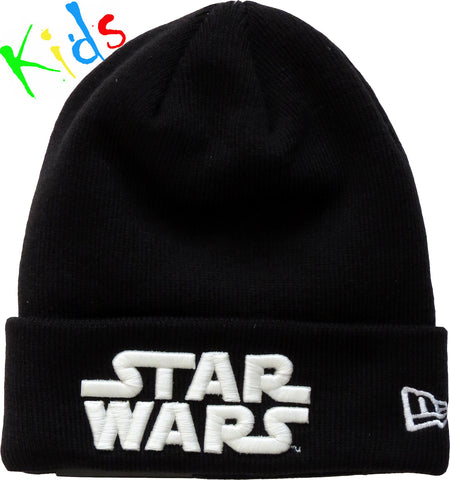 Star Wars New Era Kids Glow In The Dark Black Beanie ( Ages 5 - 10) - pumpheadgear, baseball caps