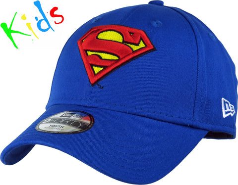 Superman New Era 940 Hero Essential Kids Adjustable Cap (Age 0 - 10 years) - pumpheadgear, baseball caps
