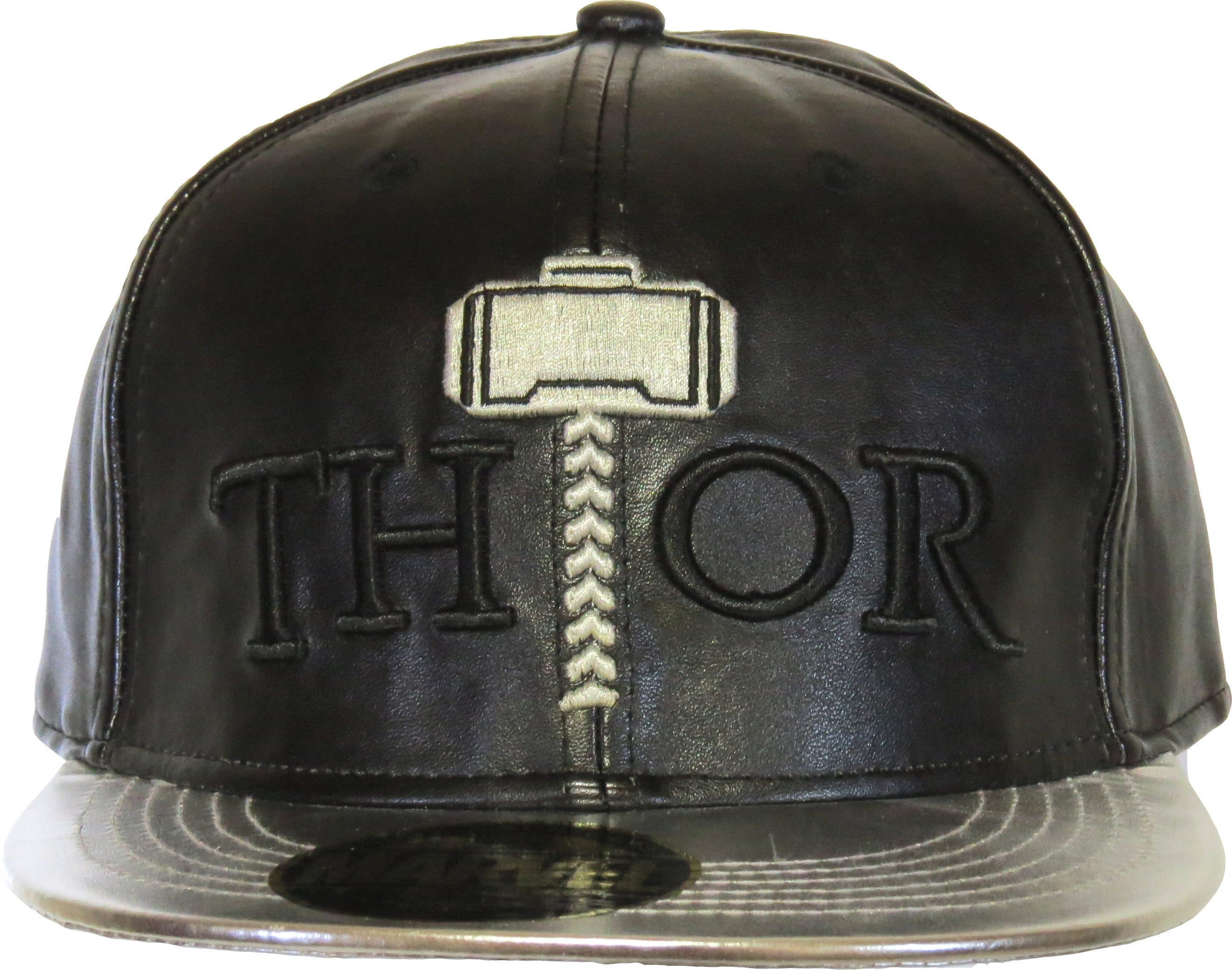 hot sale online d9c31 1a237 ... Marvel Comics Thor God Of Thunder Black Snapback Cap - pumpheadgear,  baseball caps ...