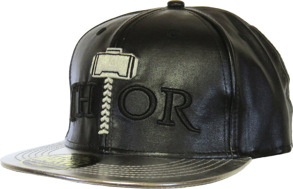 Marvel Comics Thor God Of Thunder Black Snapback Cap - pumpheadgear, baseball caps