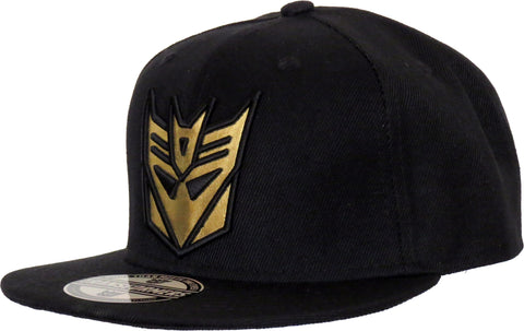Transformers Decepticon Metal Logo Black Snapback Cap