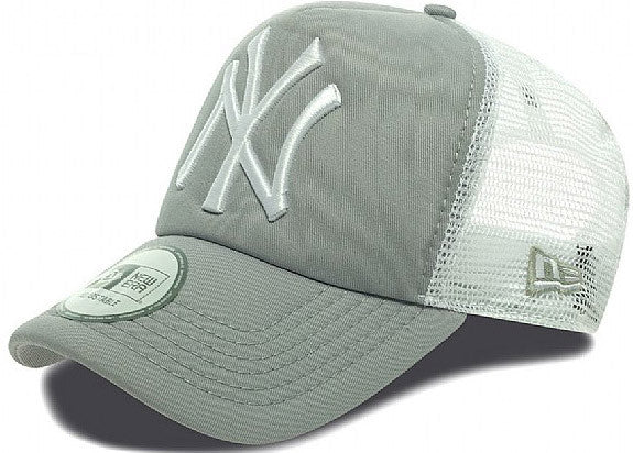 NY Yankees New Era Clean Trucker Cap - Grey White - pumpheadgear ebaf8a628ae