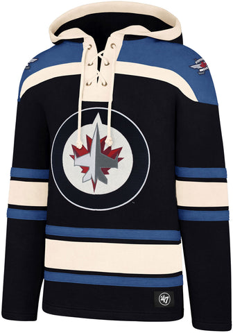 Winnipeg Jets 47 Brand NHL Team Lacer Hooded Top