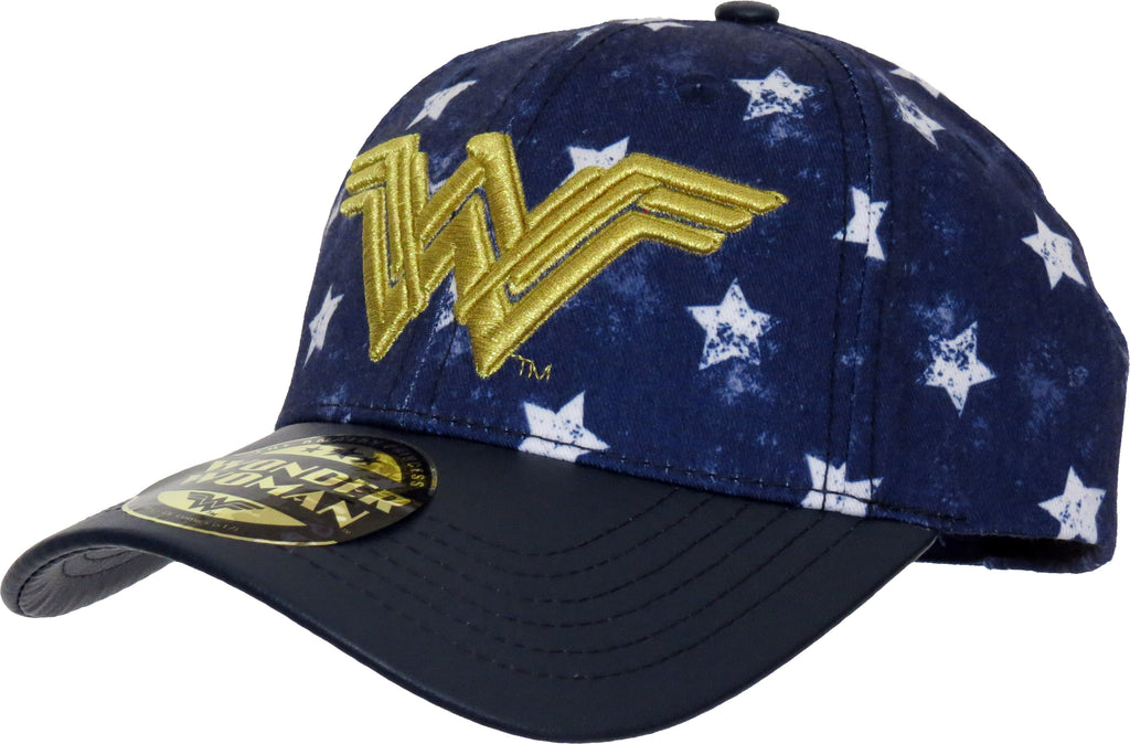 DC Comics Wonder Women Stars Adjustable Cap - pumpheadgear, baseball caps