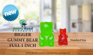 BIGGER Gummy Bear Mold Silicone 3 PACK - 3 DROPPERS