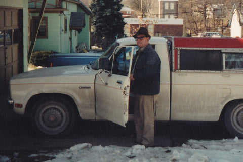 Grandpa and his truck, leaving to deliver Meals on Wheels