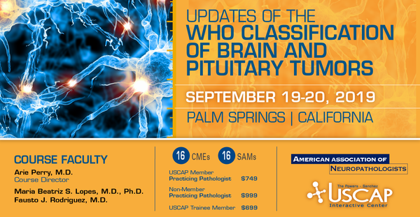 2019, September 19-20: Updates of the WHO Classification of Brain and Pituitary Tumors