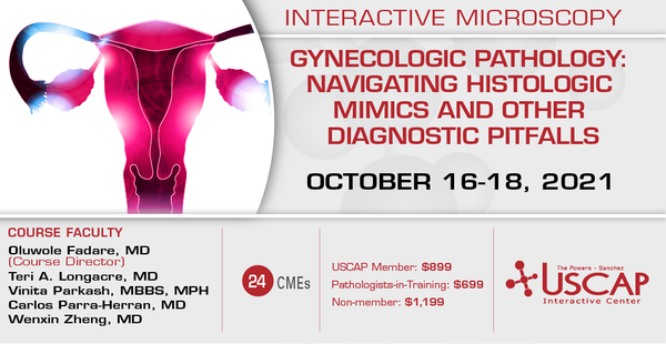 2021, Oct. 16-18: Gynecologic Pathology:  Navigating Histologic Mimics and Other Diagnostic Pitfalls