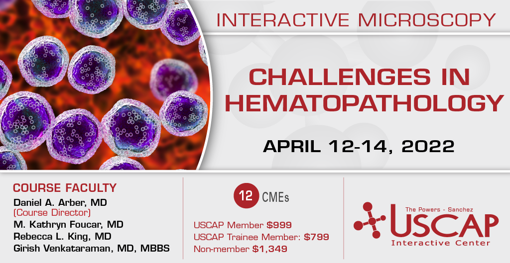 2020, April 3-5: Challenges in Hematopathology