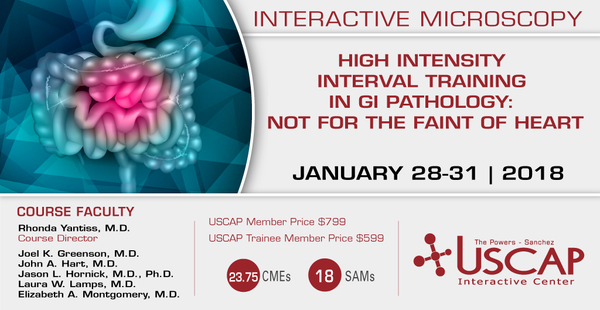 2018, Jan. 28-31: High Intensity Interval Training in GI Pathology: Not for the Faint of Heart