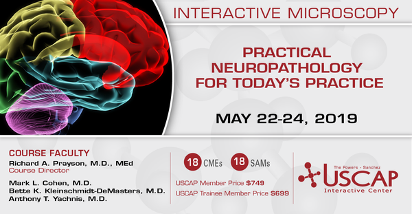 2019, May 22-24: Practical Neuropathology for Today's Practice