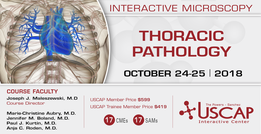 2018, October 24-25: Thoracic Pathology