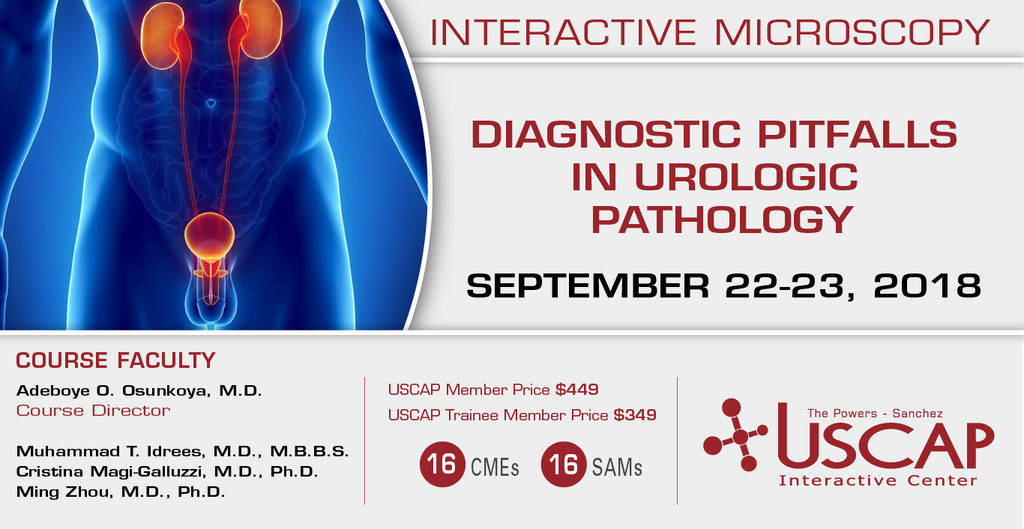 2018, Sept. 22-23: Diagnostic Pitfalls in Urologic Pathology