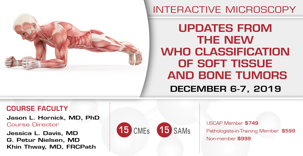 2019, December 6-7: Updates From The New Who Classification Of Soft Tissue And Bone Tumors