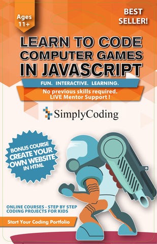 Simply Coding for Kids - Learn to Code JavaScript Computer Video Game  Design Software - Ages 10+