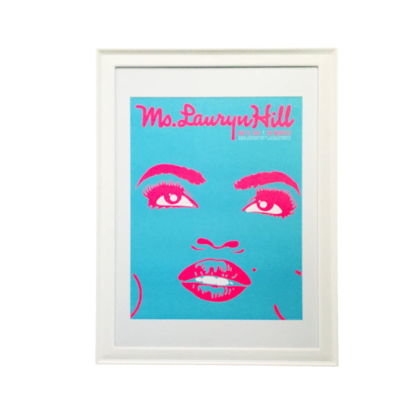 Framed Ms Lauryn Hill Poster by Kii Arens