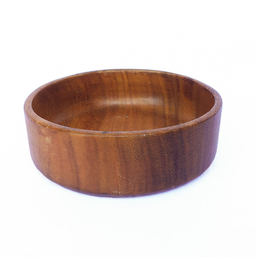 Small Vintage Wooden Round Bowl
