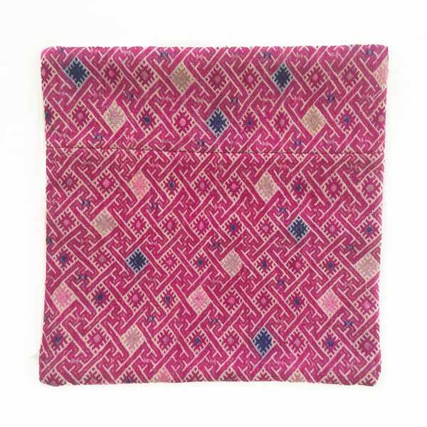 Wedding Quilt Pillow Cover 16 x 16 - Fuchsia