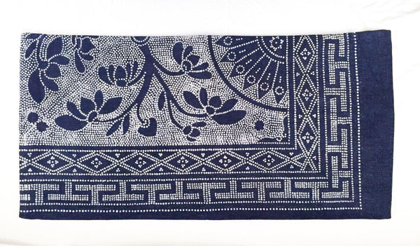 Batik Bolster Pillow Cover, 30 x 15 - Indigo