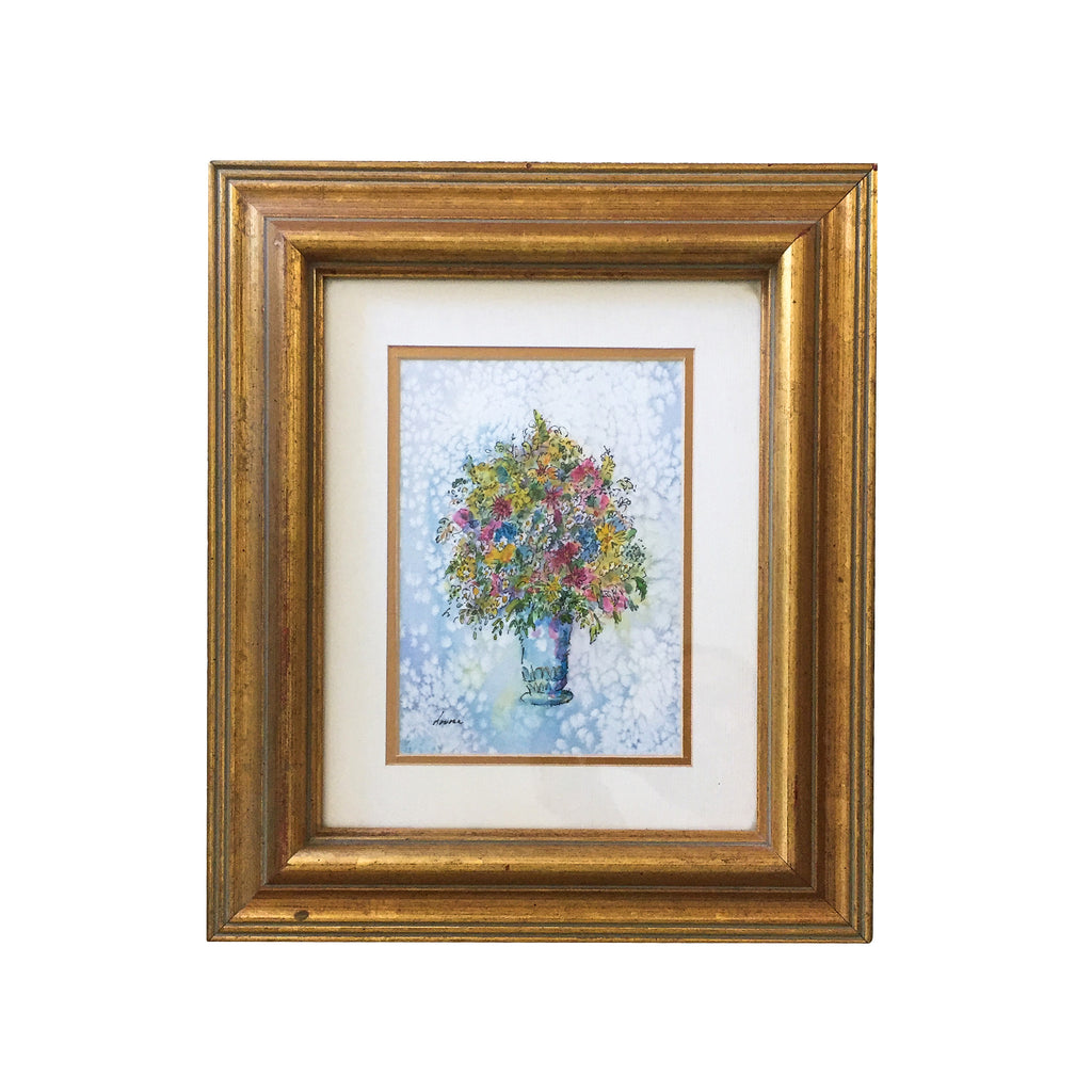 Framed Flowers Painting by Lovona