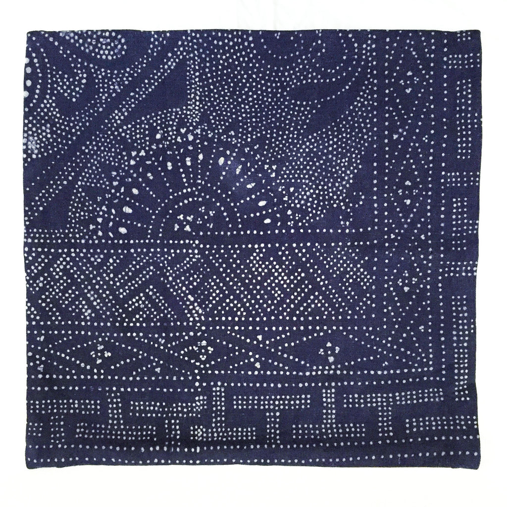 Batik Pillow Cover, 20 x 20 - Indigo