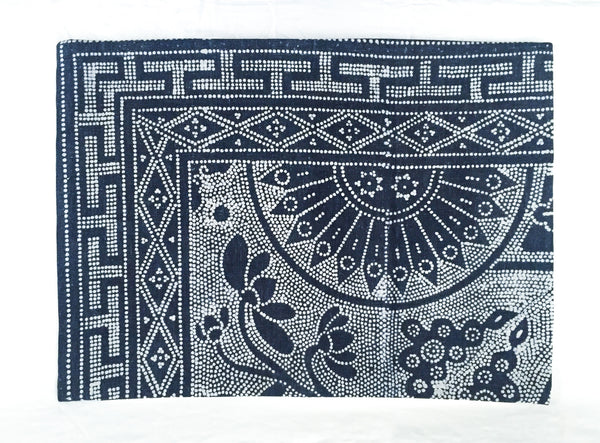 Batik Bolster Pillow Cover, 22 x 16 - Indigo