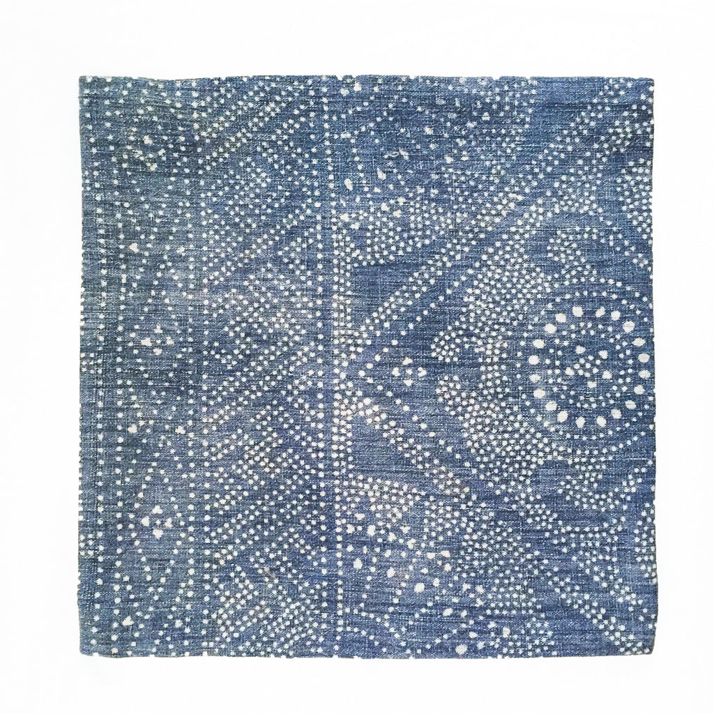 Batik Pillow Cover, 16 x 16 - Chambray