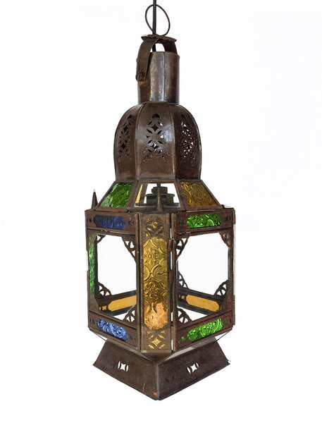 Moroccan Stained Glass Pendant Lantern