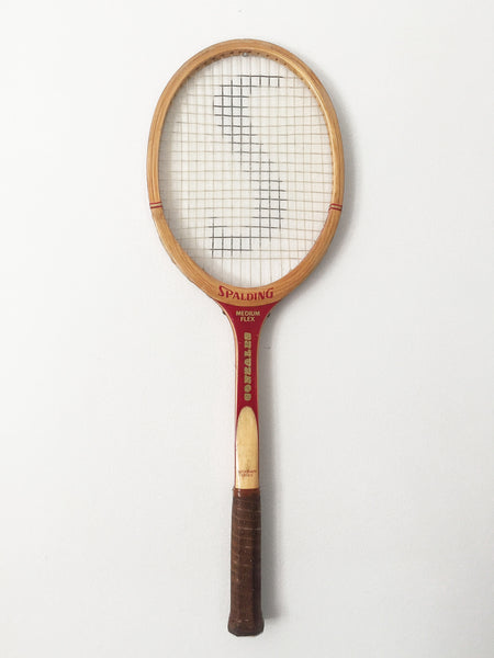 Vintage Spalding Medium Flex Tennis Racquet