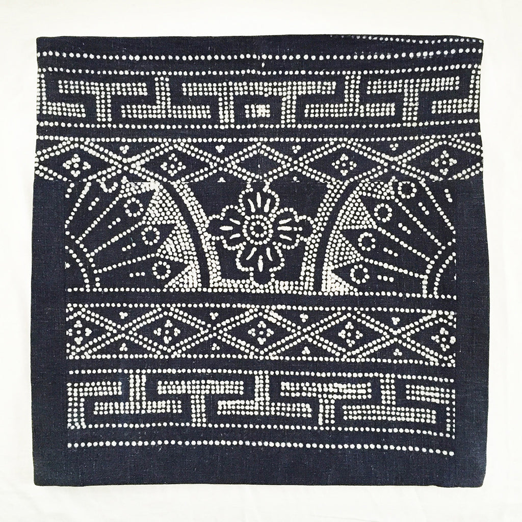 Batik Pillow Cover, 16 x 16 - Indigo
