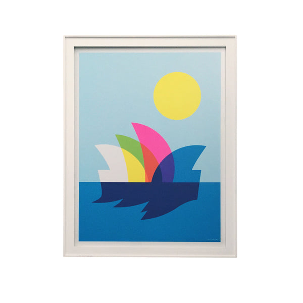 Framed Sydney Opera House Poster by Kii Arens
