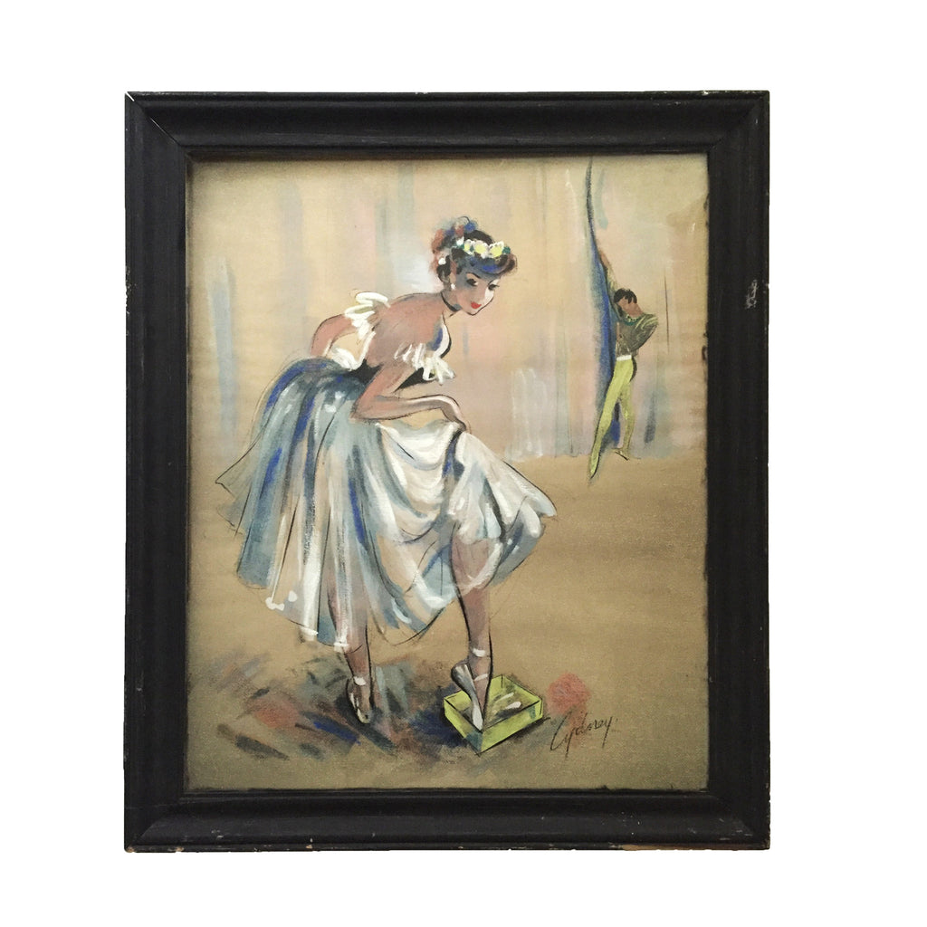 Pastel Painting of Ballerina by Cydney
