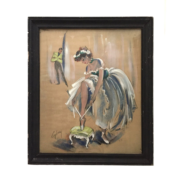 Pastel Painting II of Ballerina by Cydney