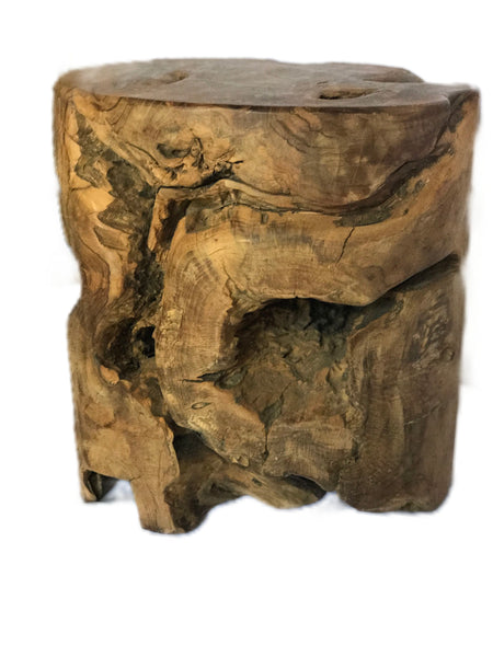 Teak Wood Stump Table