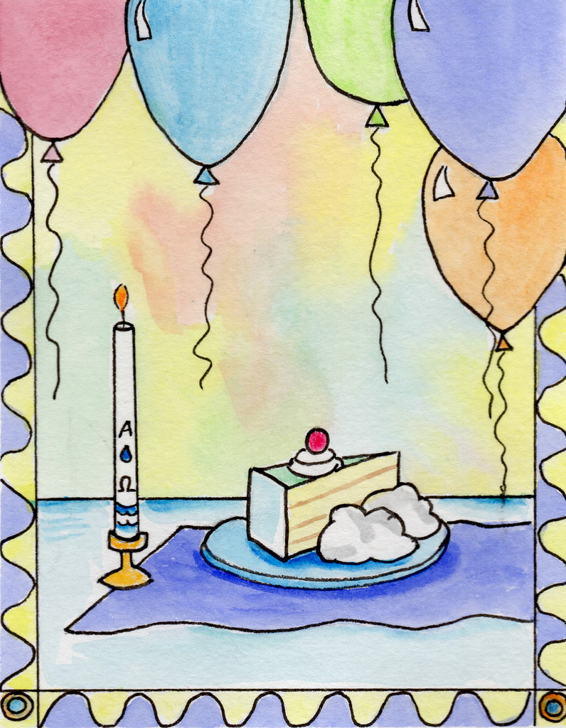 Baptismal Anniversary Card - Baptism Birthday Party