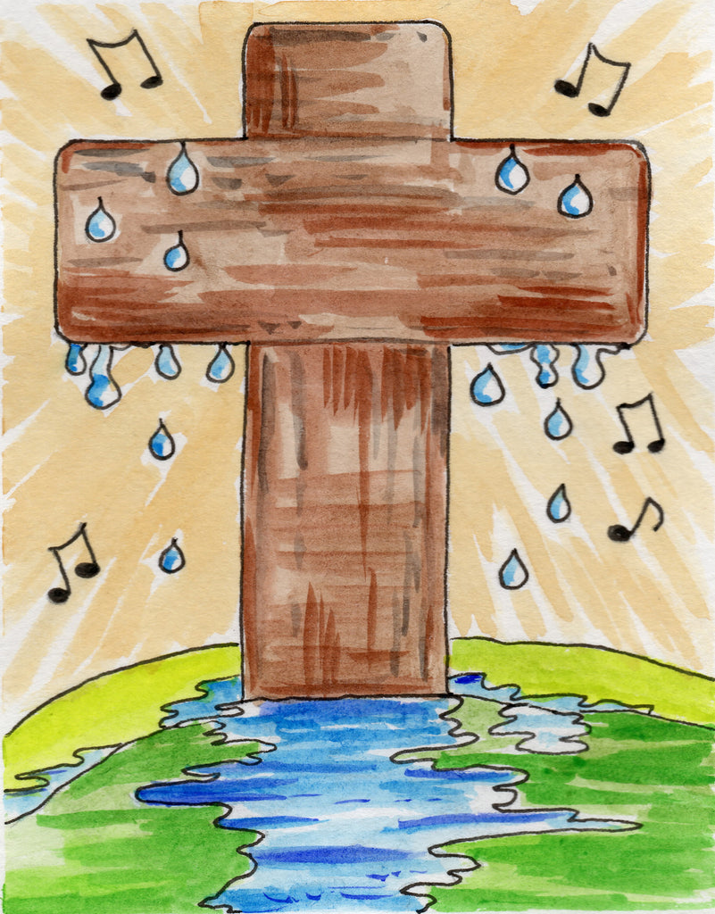 Baptismal Anniversary Card - Raindrop to a River; One Word Unto A Song