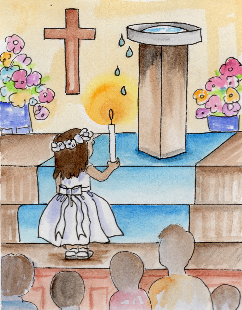 Baptismal Anniversary Card - The Light of Jesus' Love