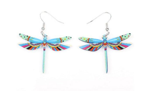 Hand Made Acrylic Dragonfly Earrings