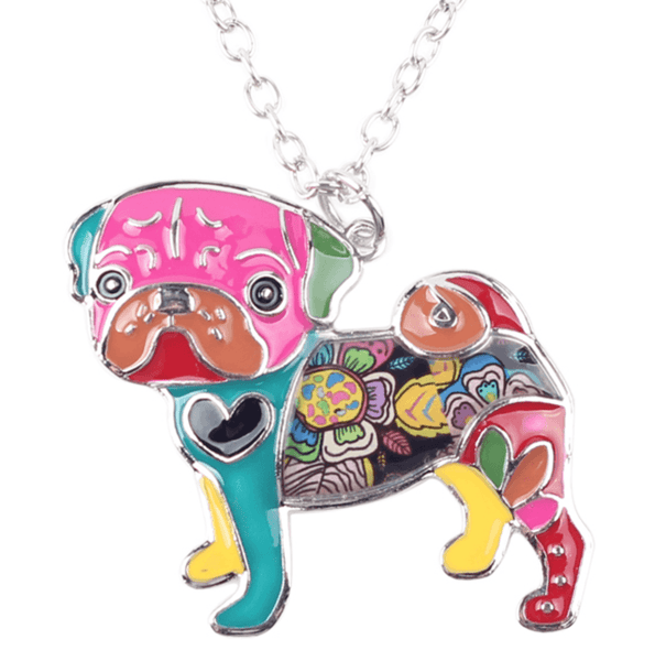 Unique Acrylic Pug Necklace