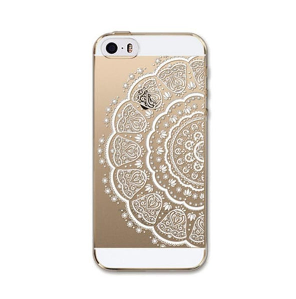 iPhone 5/5S, 6/6S White Henna Case