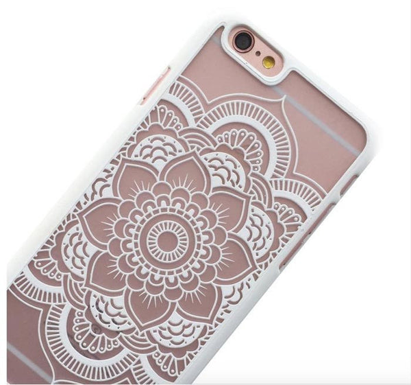 White Henna Mandala Phone Case