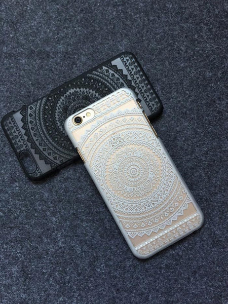 White Henna Aztec Phone Case