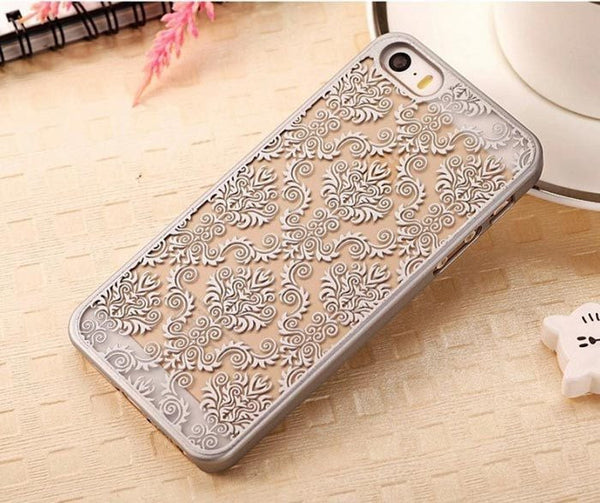 Silver Henna Damask Phone Case
