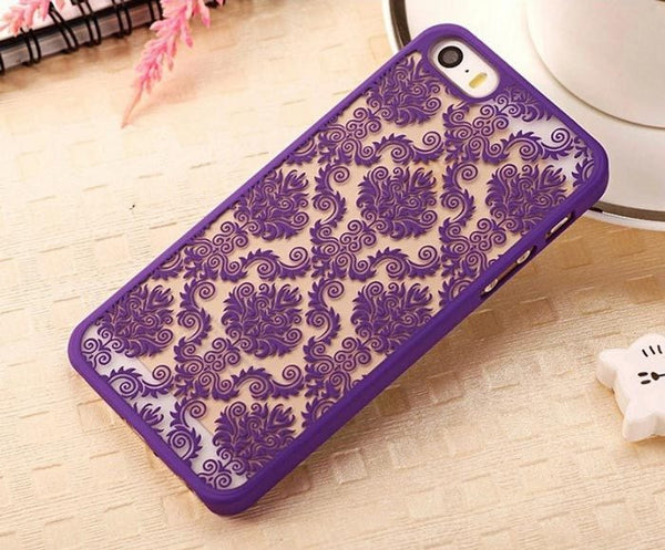 Purple Henna Damask Phone Case